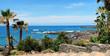 Wunderschönes Strandpanorama von Puerto de la Cruz, Teneriffa, Kanarische Inseln, Spanien