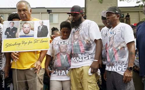 Michael Brown Sr At The Spot Where His Son Was Killed Hugs His