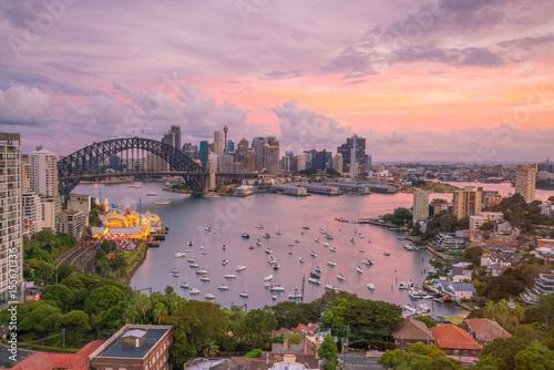 Poster Océanie Downtown Sydney skyline