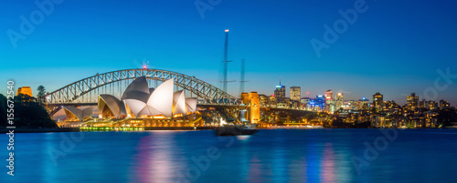 Photo Stands Sydney Downtown Sydney skyline
