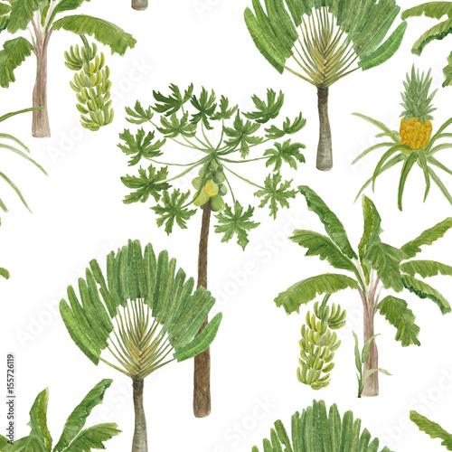 pieknego-bezszwowego-akwarela-obrazu-kwiecisty-tropikalny-deseniowy-tlo-z-drzewkiem-palmowym