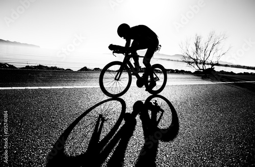 Cadres-photo bureau Cyclisme Zeitfahren / Triathlon Silhouette