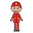 man firefighter avatar character icon vector illustration design