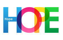 HOPE Colourful Vector Letters ...