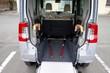 福祉車両の車椅子収納スペース