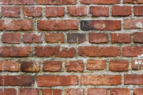 Background red old brick wall