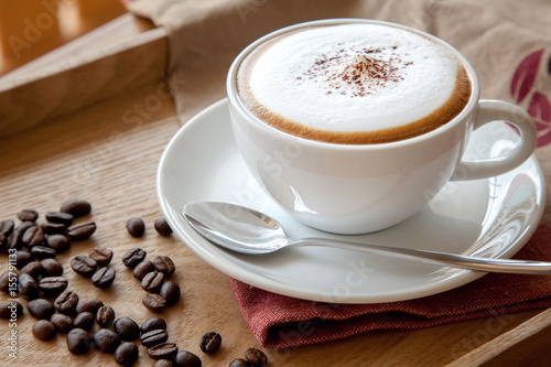 Coffee cup of cappuccino Canvas-taulu