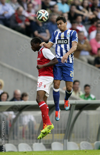By Miguel Vidal   REUTERS. Braga s Nurio jumps for the ball with Porto s  Ricardo during their Portuguese Premier League soccer match 19b5828714930