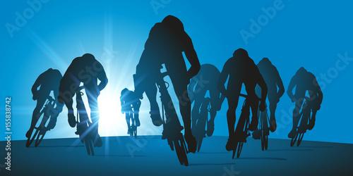 Fotografie, Obraz  cyclisme - sprint - course - vainqueur - coureur - vélo - cycliste - compétition