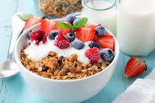 Granola Breakfast With Berries