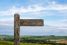 Wooden Sign Post In The Countryside