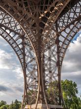 Detail Of Eiffel Tower In Pari...