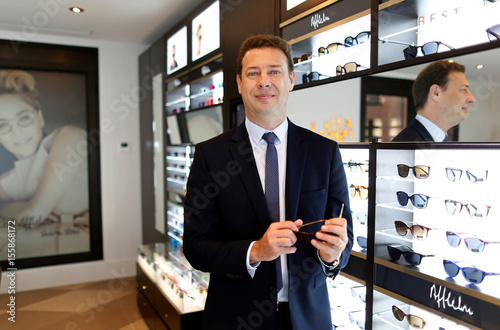 718a26b03b4375 Frederic Poux, CEO of Afflelou Group, poses in the showroom of leading  European group