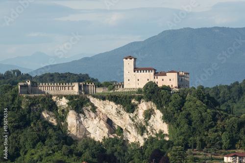 Fotografering  The castle on Lake Maggiore