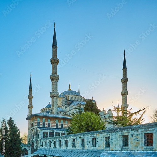 The Blue Mosque also called Sultan Ahmed Mosque or Sultan Ahmet Mosque in Istanb Poster