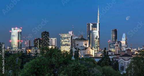 Recess Fitting Milan Milan skyline by night, Italy