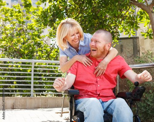 Fotografie, Obraz  Lifestile of real disabled man.