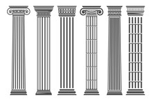 Greek And Roman Columns Set
