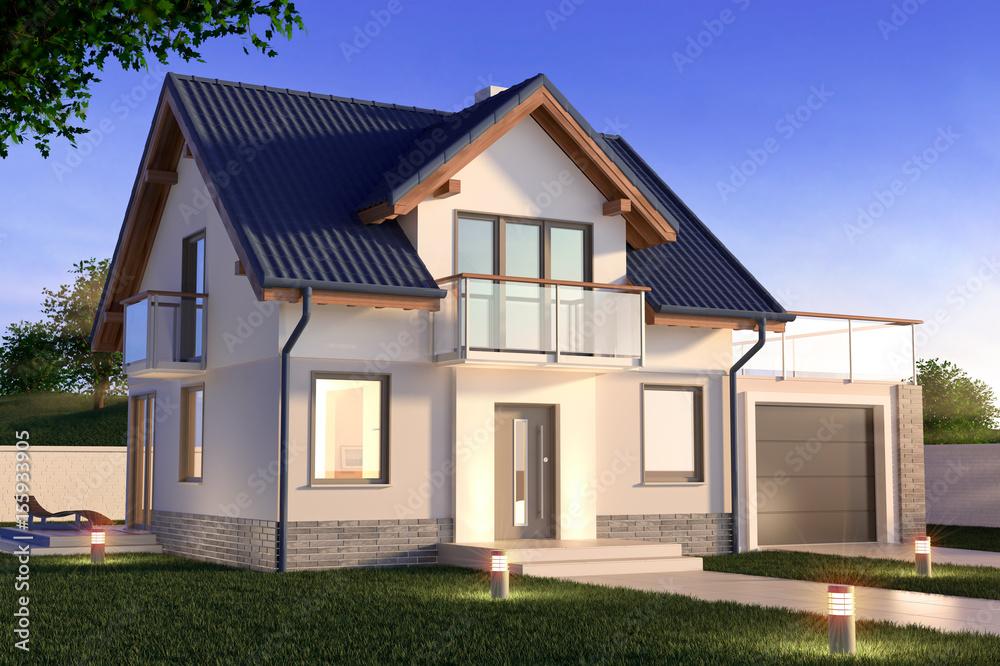 Fototapeta Single family house