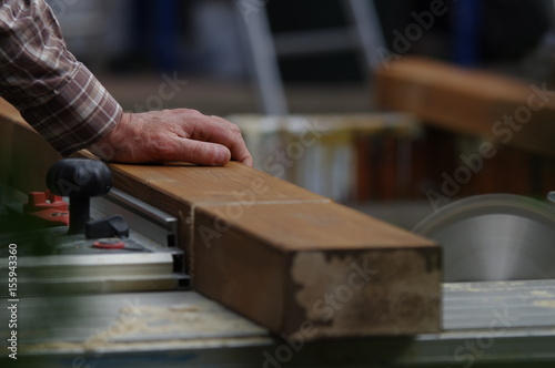 Spoed Foto op Canvas Muziekwinkel Terrassenüberdachung - Pergola aus Holz montieren