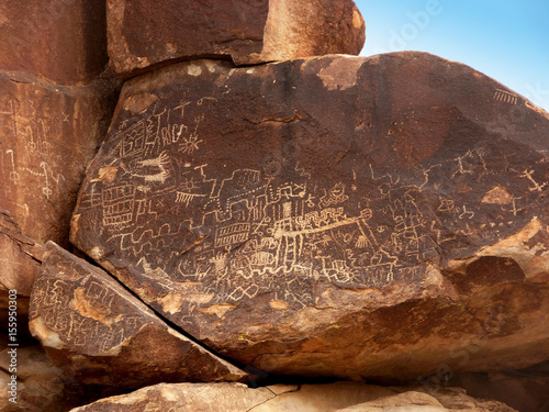 Photo Boulder with Petroglyphs