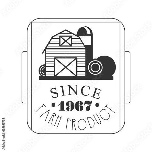 Poster  Farm product since 1967 logo