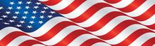 USA Flag Long Drawn Landscape ...