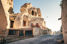 Cave Houses Goreme Village With In Cappadocia, Turkey