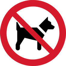 ISO 7010 P021 No Dogs