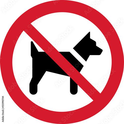Obraz na plátně ISO 7010 P021 No dogs