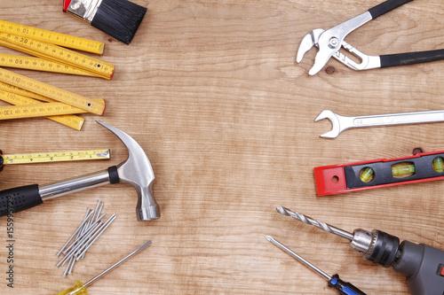 Zdjęcie XXL Różne narzędzia do pracy na drewnie