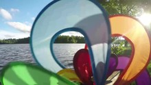 Colorful Two Propeller Wind Pi...