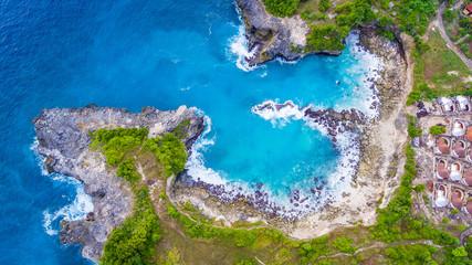 zatoka ocean dron