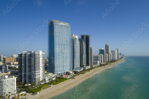 Fotografie, Obraz  Aerial image of sunny Isles Beach Florida USA