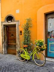 Fototapeta na wymiar romano bicicleta