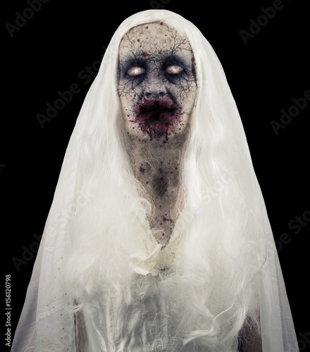 Photo  Zombie Ghost Isolated On Black Background