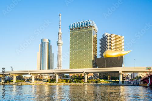 Foto auf AluDibond Tokio Sumida River with landmark buildings in Tokyo Japan