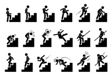 Man With Staircase Or Stairs P...