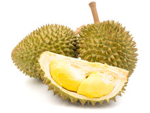 King Of Fruits, Durian On Whit...