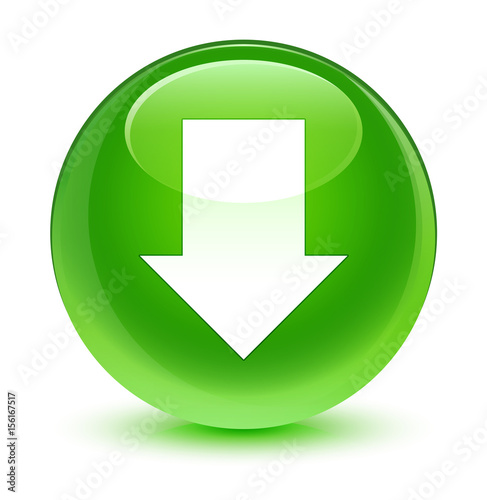 Download arrow icon glassy green round button Poster
