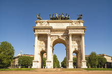 Arch Of Peace In Sempione Park, Milan, Lombardy, Italy, 13-05-2017