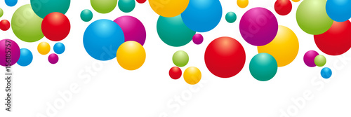 Abstract vector banner, Color geometric background with balloons Fototapeta