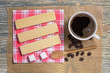 Waffles and coffee