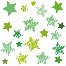 Vector Background With Green Stars