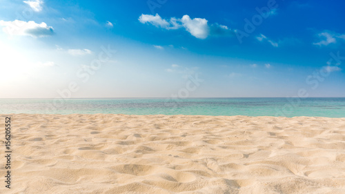 Perfect tropical beach landscape. Vacation holidays background