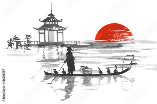 japonski-obraz-z-czlowiekiem