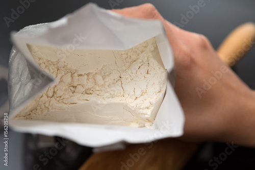 Inside View Of A Bag Of Flour Canvas Print