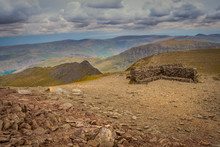 Summit Of Helvellyn In The English Lake District
