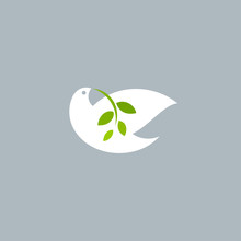Peace Dove With Olive Branch O...