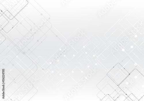 Obraz vector background abstract technology communication data Science - fototapety do salonu